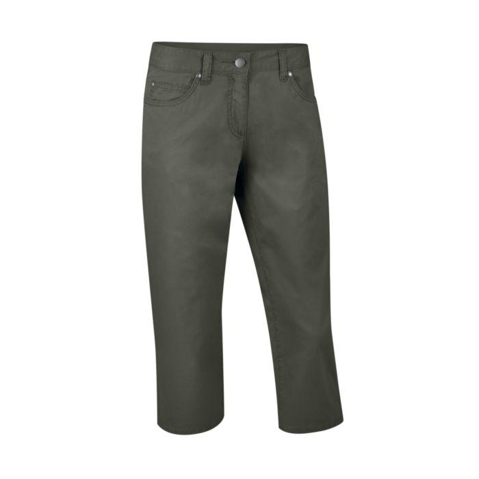 Pantalon 3/4 en coton 5 poches