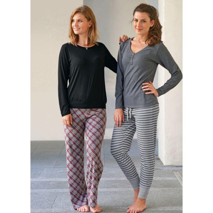 premium selection 01acd 630ed Damen Pyjama-Hose kariert
