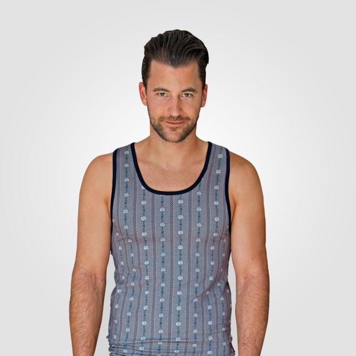 ISA Herren Edelweiss Shirt ohne Ärmel