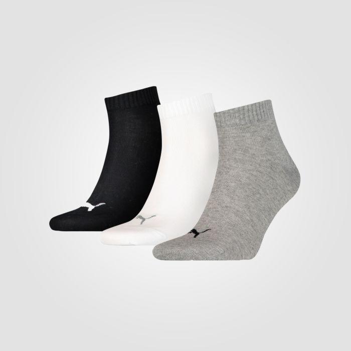 Socquettes sneakers Quarter PUMA unisexe, lot de 3