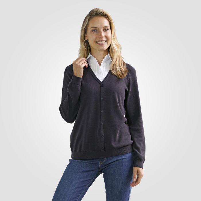 Pull-over en tricot avec co chemisier intégré