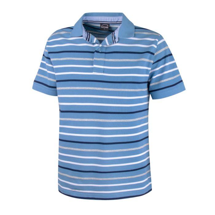 Image of Gestreiftes Polo-Piqué-Shirt