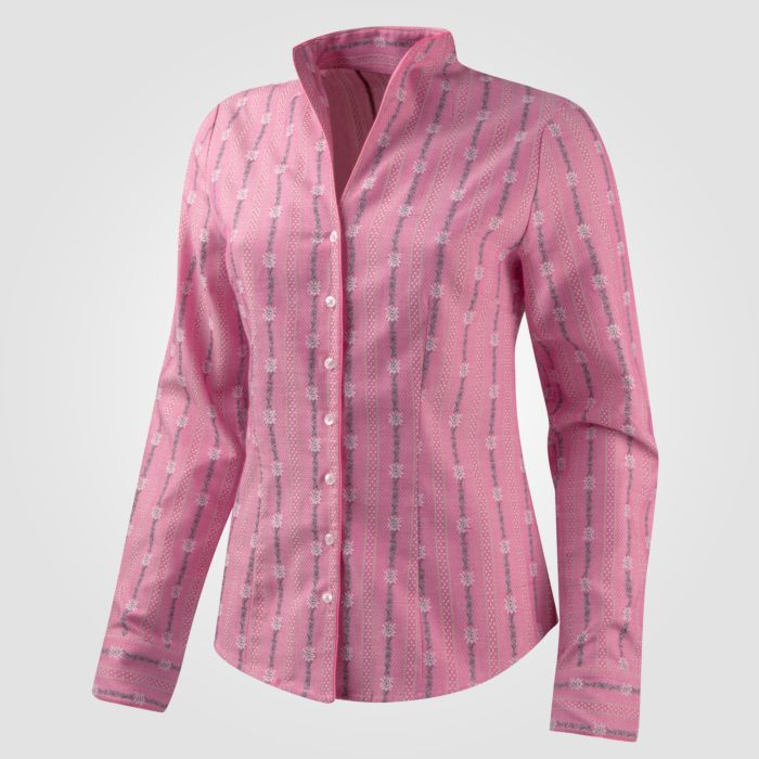 Edelweiss Bluse mit Kelch Kragen