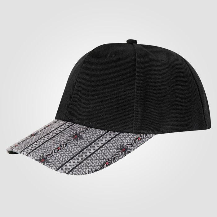 Edelweiss Cap schwarz