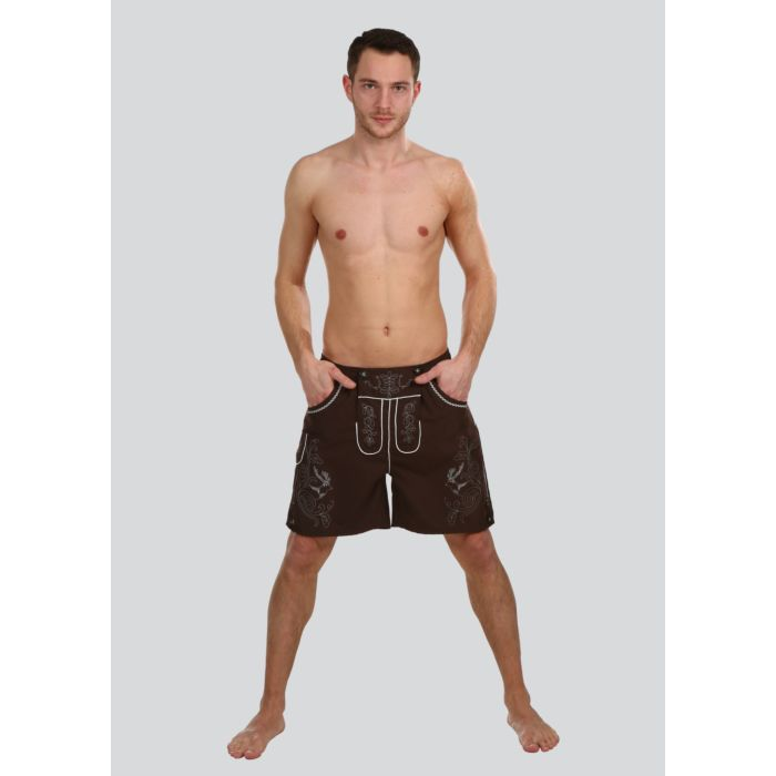 Bade-Shorts Lederhosen-Optik
