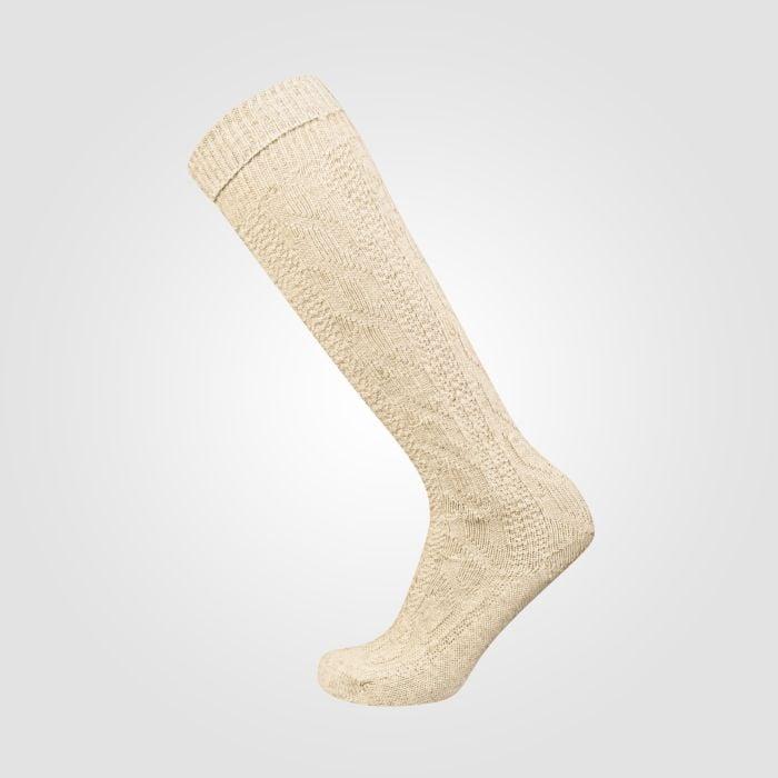 Chaussettes avec motif de torsades et rayures