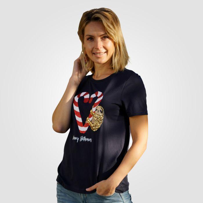 Only T-Shirt mit Weihnachtsmotiv