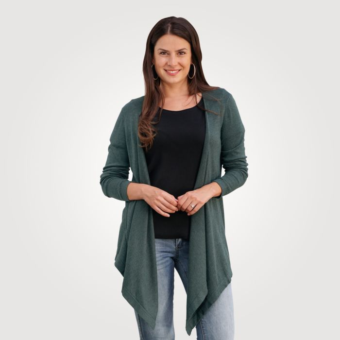 Cardigan Damen in Mélange-Optik