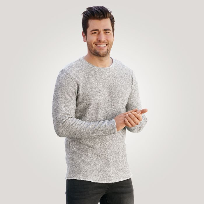 Sweat-shirt hommes look chiné