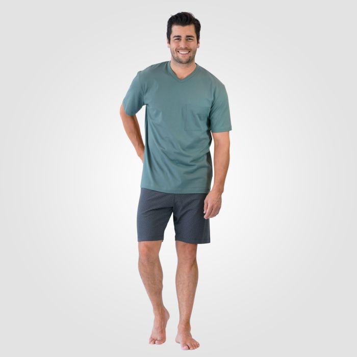 Pyjama Calida imprimé gris court pour hommes