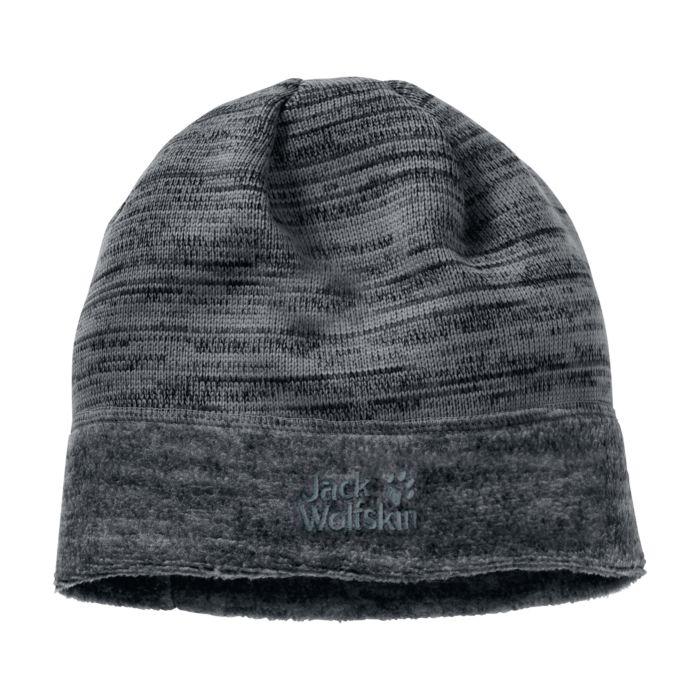 Bonnet Jack Wolfskin aquila cap en fibre polaire au look tricot