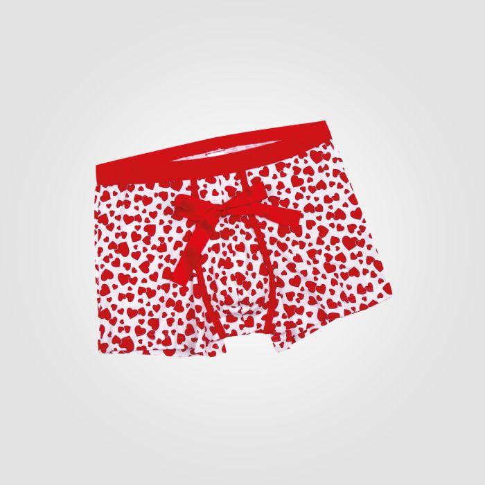 ISA Herren Panty mit Herzchen-Print
