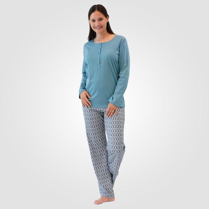 Pyjama Calida imprimé en coton pour dames