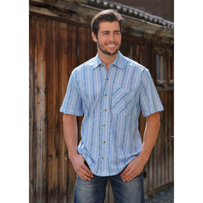 Bedrucktes Edelweiss Hemd in Jersey Qualität