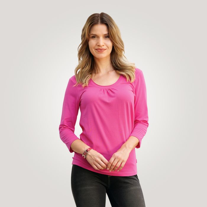 Schlichtes 3/4-Arm Damen Shirt
