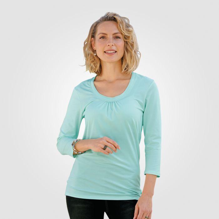 Schlichtes 3/4-Arm Damen Shirt