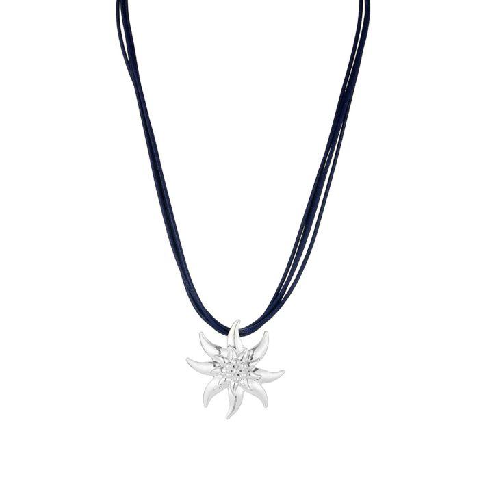 Chaîne courte avec pendentif edelweiss