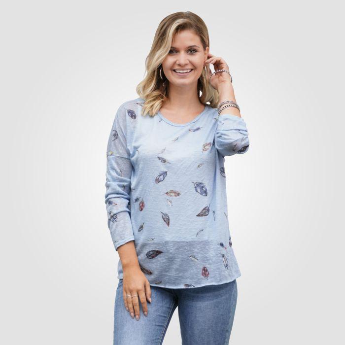 Shirt Replace orné de plumes