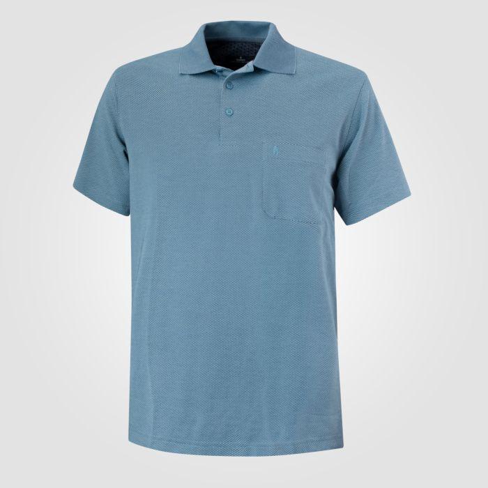 Ragman Herren Poloshirt Waffelstruktur