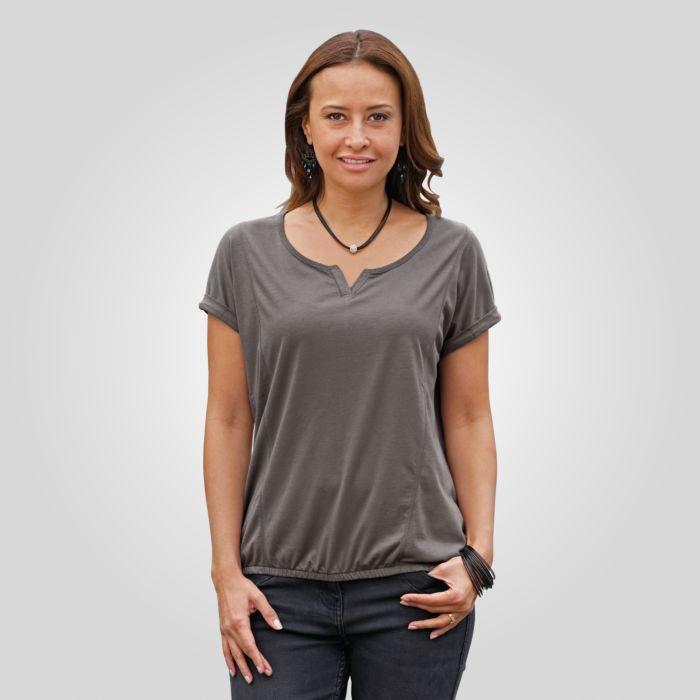 T-shirt avec ourlet élastique au bas