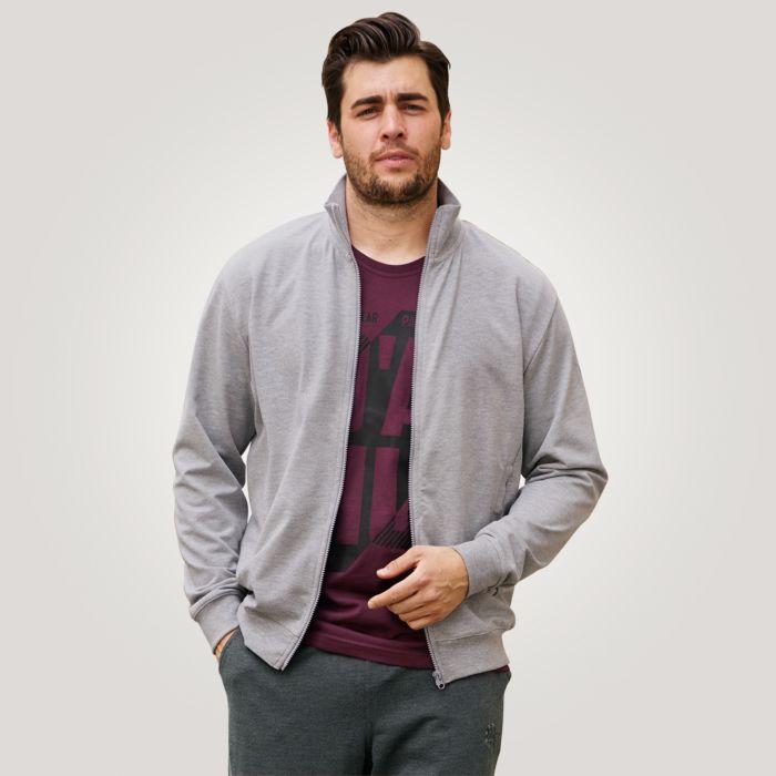 Ahorn Sweat-Jacke Herren mit Reissverschluss