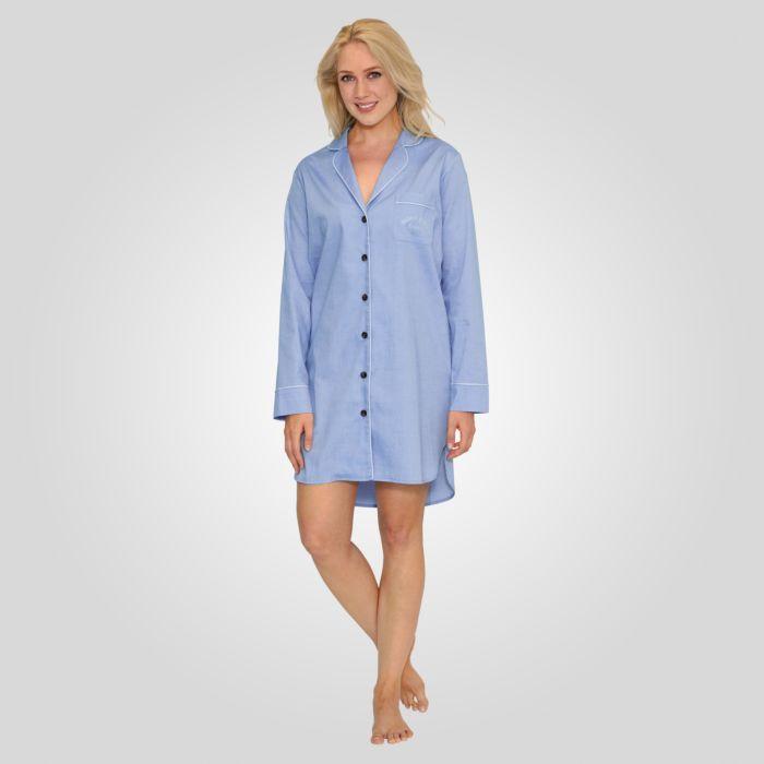 Chemise de nuit boutonnée
