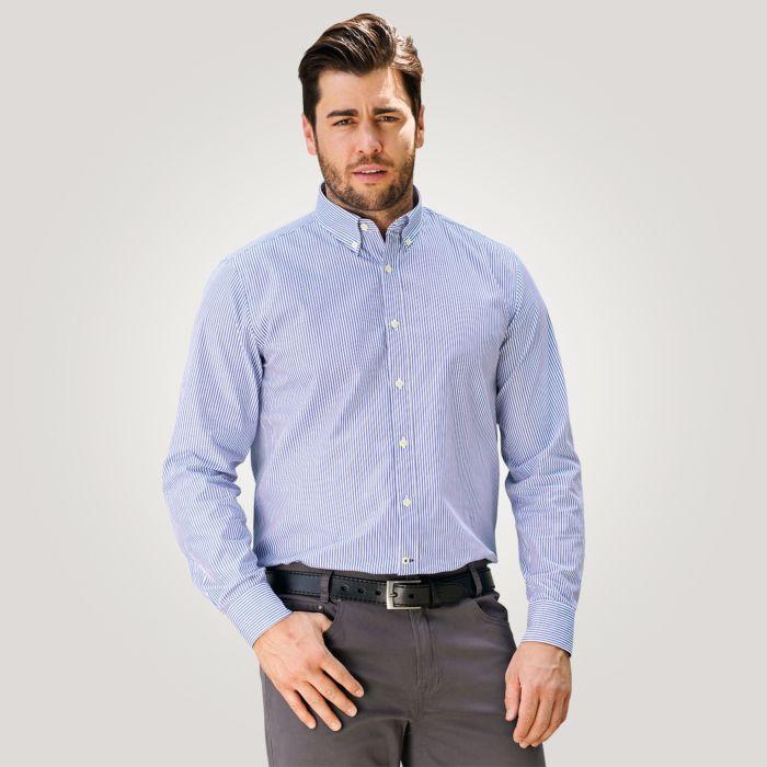 Gestreiftes Herren Hemd in blau