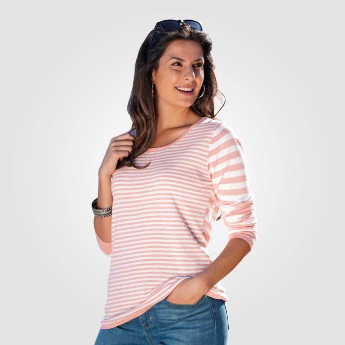 Pull-over en tricot rayé