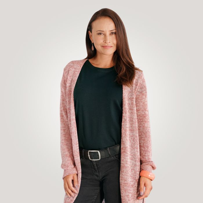 Modischer Damen Cardigan in Melange-Optik