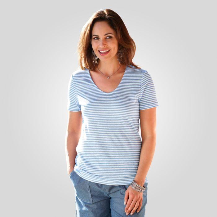 T-Shirt Damen mit feinen Streifen