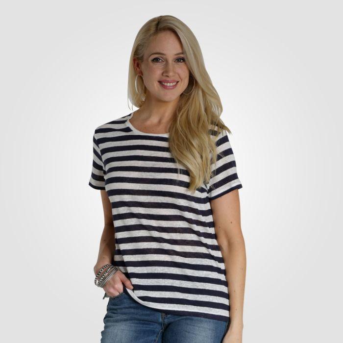 Legeres Damen T-Shirt mit Streifen