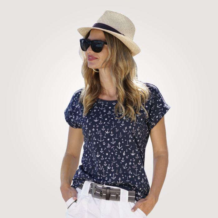 T-Shirt Damen im Marine Stil