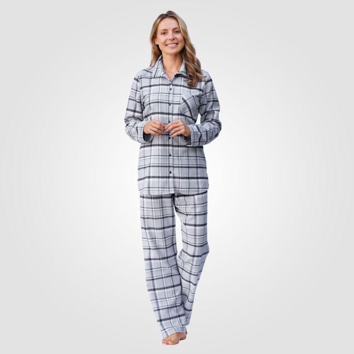 60% de réduction prix officiel meilleurs prix Pyjama Calida en flanelle à carreaux