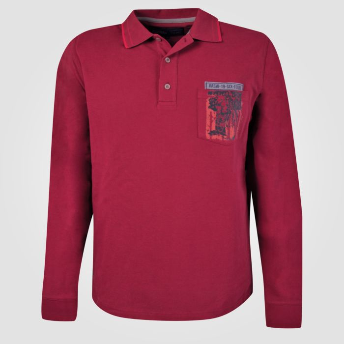 quality design dd25d 2454d Poloshirt langarm mit Brusttasche grosse Grössen