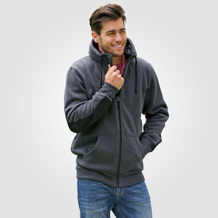 Sweat-Jacke mit Känguru-Taschen