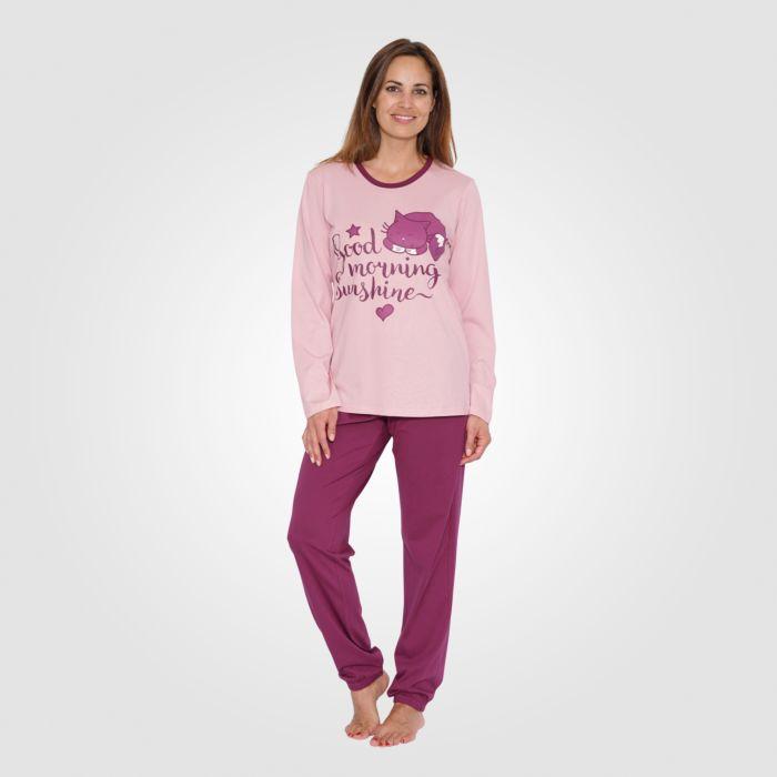 Pyjama dames avec motif devant