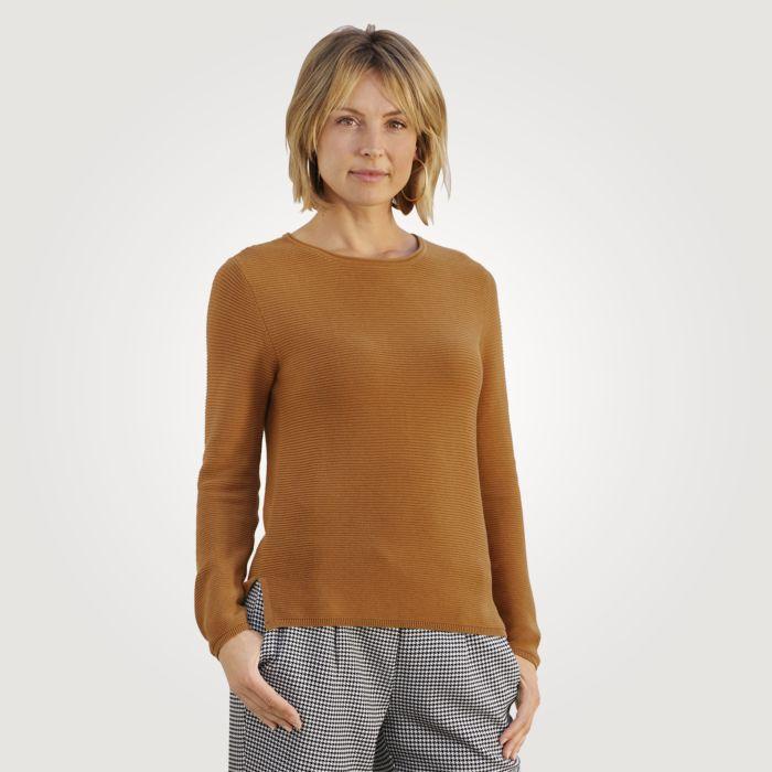 Damen Ripp-Pullover