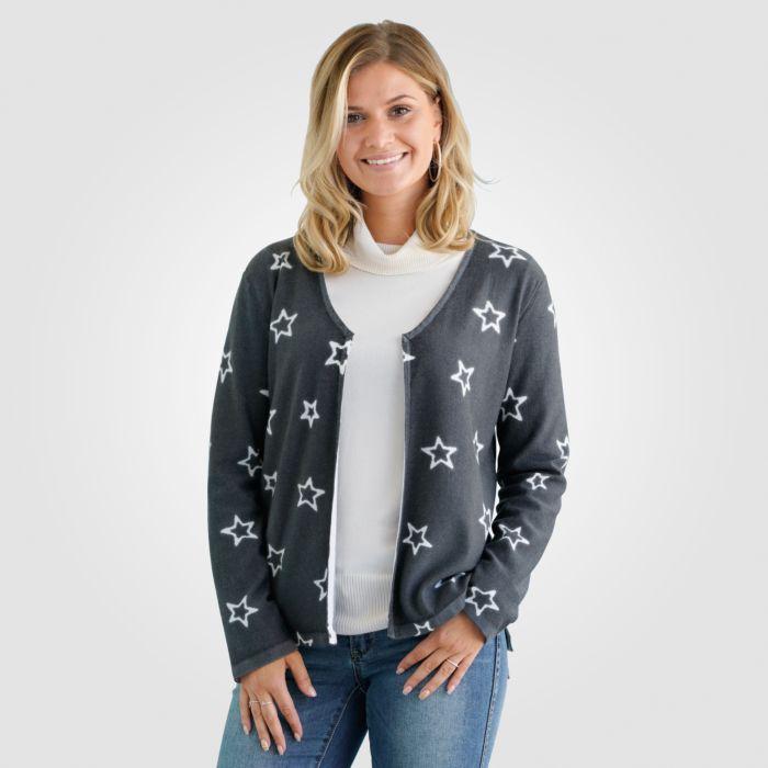 Cardigan mit Sternen