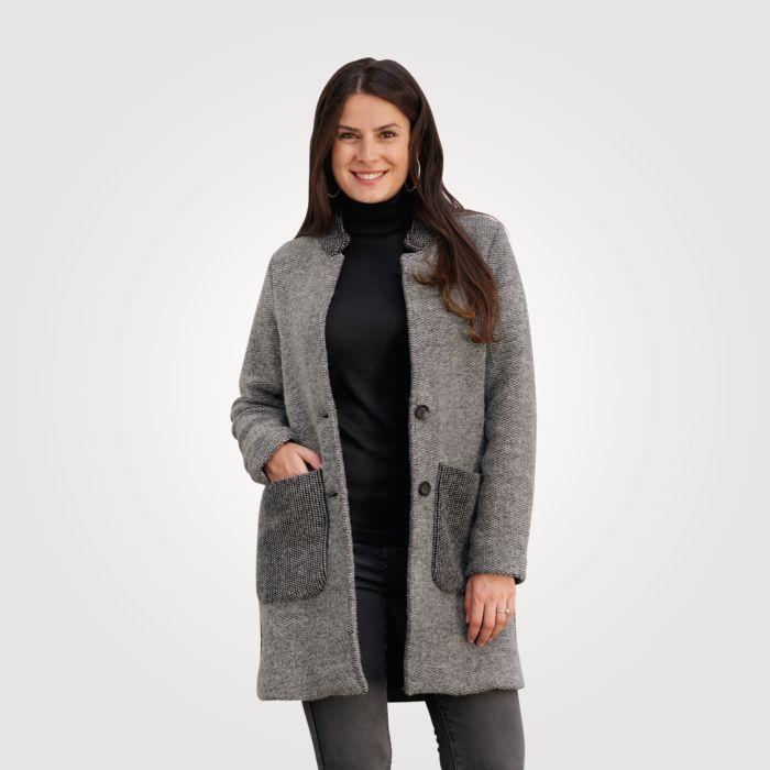 Manteau à col droit