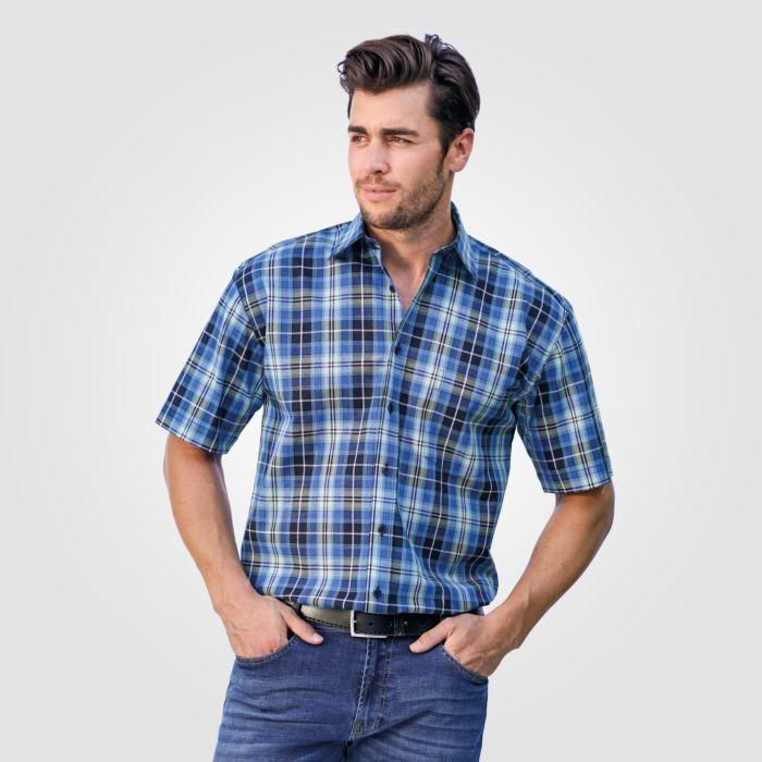 Chemise à manches courtes, bleu-noir