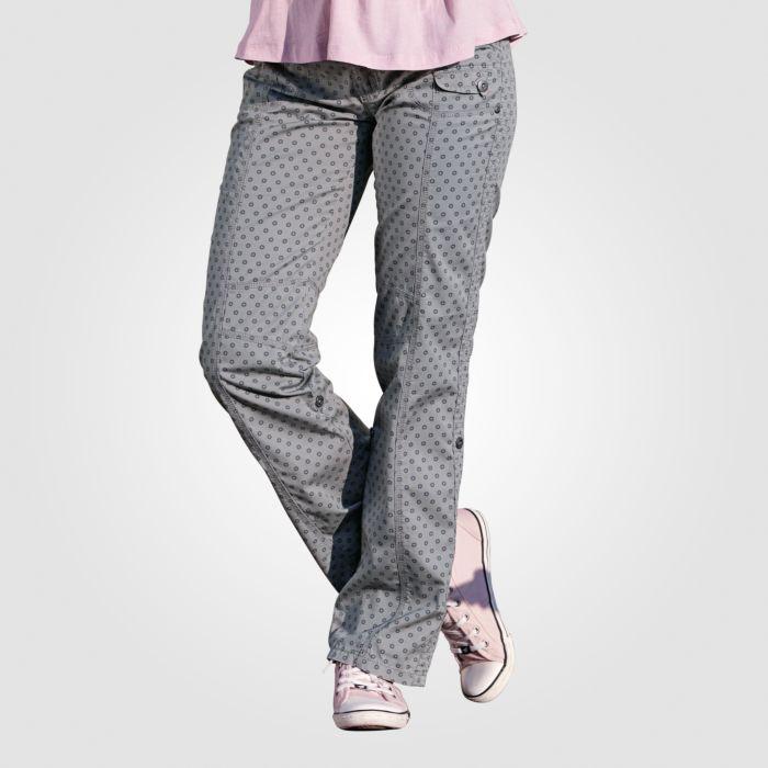 Bedruckte Damen Hose zum Hochkrempeln