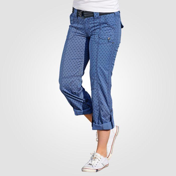 Damen Hose mit Kreismuster