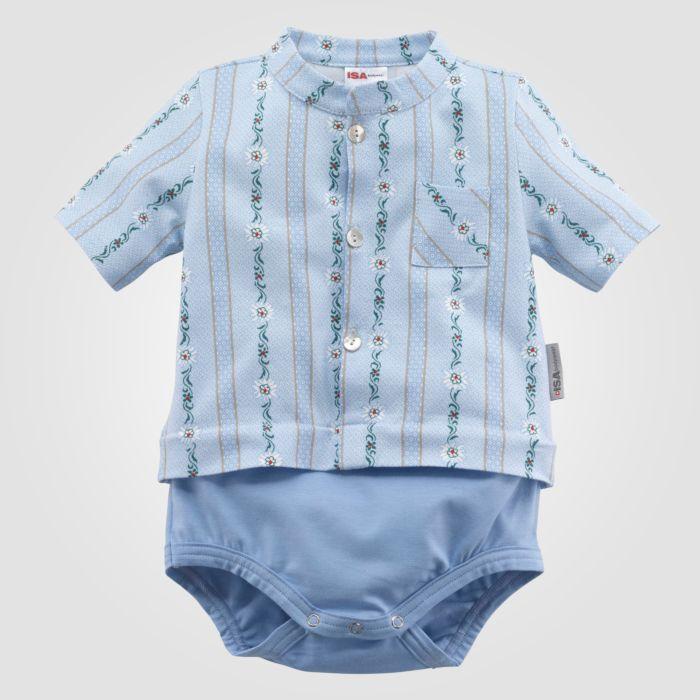 ISA Baby Body Edelweiss mit Brusttasche