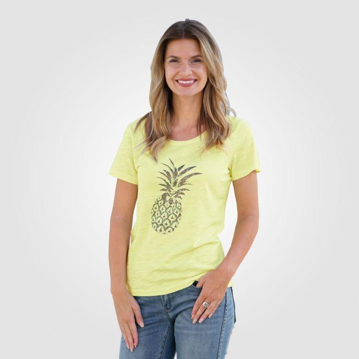 T-Shirt mit Ananas Print