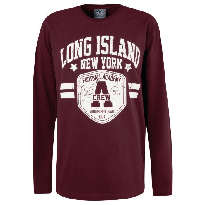 Langarmshirt Herren Long Island NY grosse Grössen