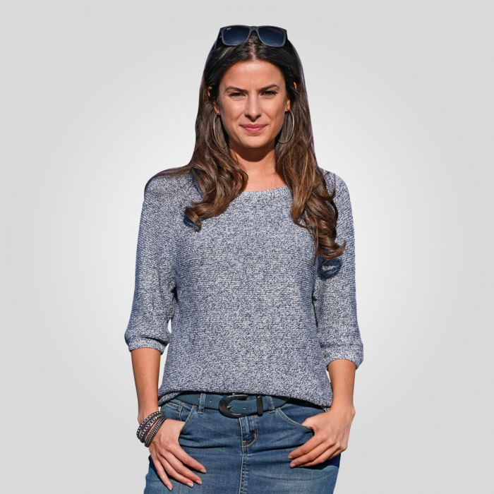 3/4 Arm Sommer-Strickpullover Damen
