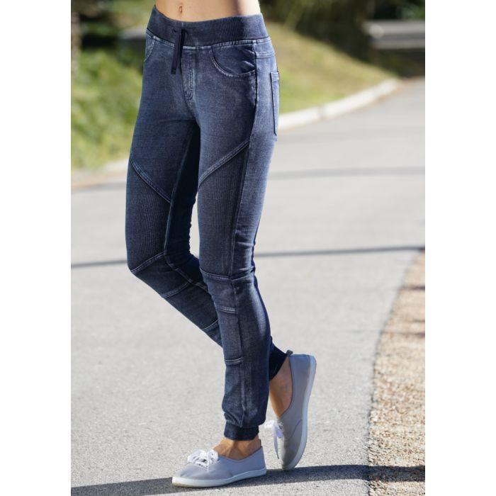 Sweat Hose Damen Jeans Look