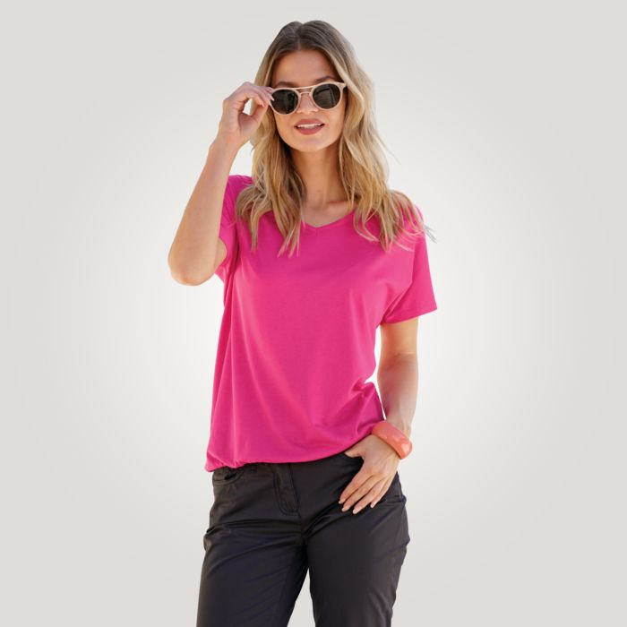 Luftiges V-Neck T-Shirt für Damen