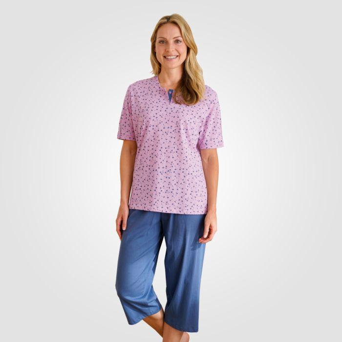 Pyjama corsaire avec haut fleuri