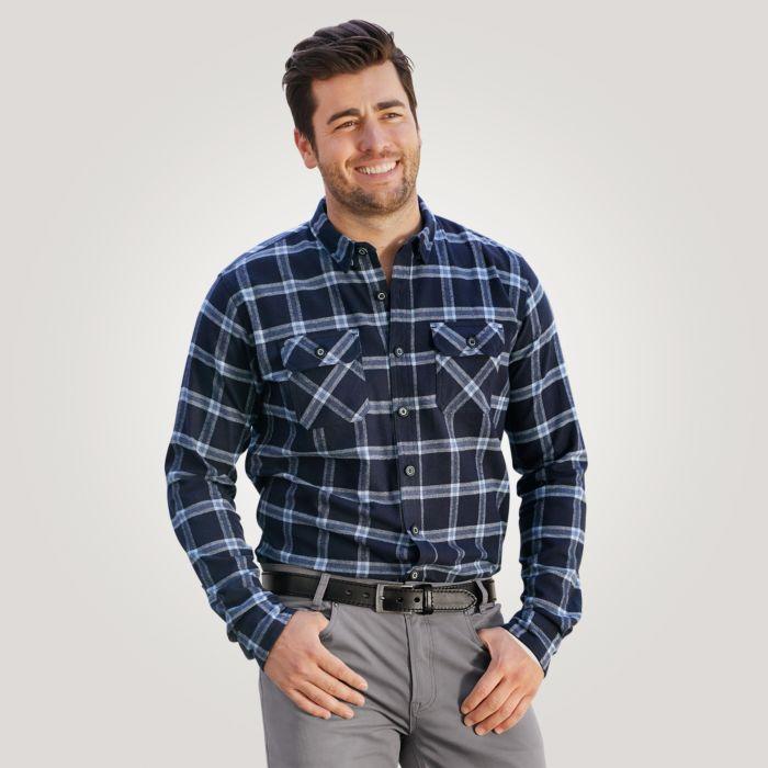 Chemise en flanelle avec poches à rabat